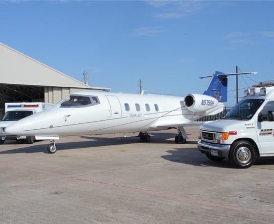 Lear 55 before a flight