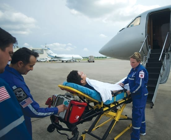 Patient Unloading from VIP Jet