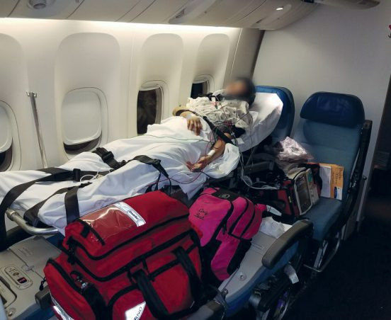 Stretcher Patient On the way to China