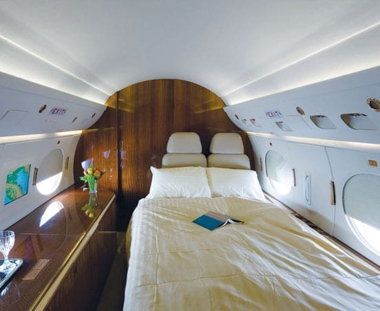 Bed on a jet for VIP patients